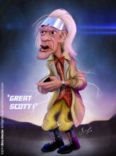 Caricature de Christopher Lloyd
