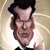 Caricature de Pierce Brosnan