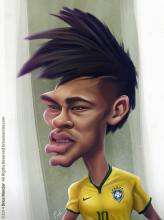 Caricature de Neymar jr.