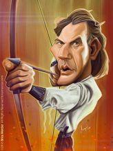 Caricature de Kevin Costner