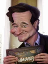 Caricature de Robin Williams