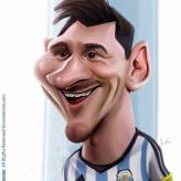 Caricature de Lionel Messi