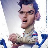Caricature de Yoann Gourcuff