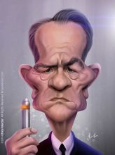 Caricature de Tommy Lee Jones