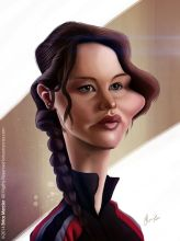 Caricature de Jennifer Lawrence