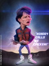 Caricature de Michael J. Fox
