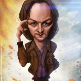 Caricature de James McAvoy