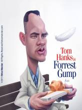 Caricature de Tom Hanks