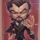 Caricature de Leonardo DiCaprio