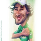 Caricature de Peter Sagan