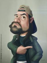 Caricature de Kevin Smith