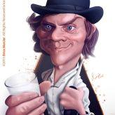 Caricature de Malcolm McDowell