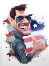 Caricature de Tom Cruise