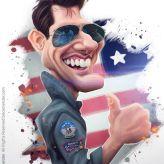 Caricature de Tom Cruise