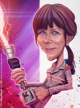 Caricature de Kristen Wiig