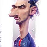 Caricature de Zlatan Ibrahimovic