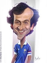 Caricature de Michel Platini