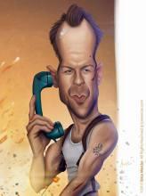Caricature de Bruce Willis