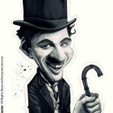 Caricature de Charlie Chaplin