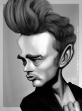 Caricature de James Dean