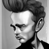 Caricature de James Dean