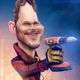 Caricature de Chris Pratt