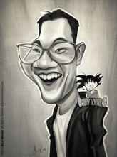 Caricature de Akira Toriyama