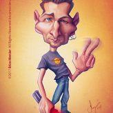 Caricature de Brice Mercier