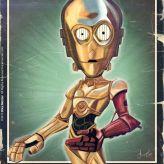 Caricature de C-3PO