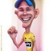 Caricature de Chris Froome