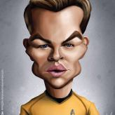 Caricature de Chris Pine