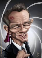 Caricature de Daniel Craig