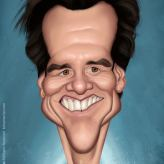 Caricature de Jim Carrey