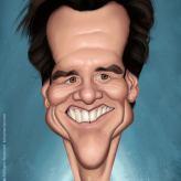 Caricature de Jim Carrey