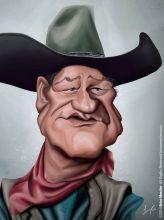 Caricature de John Wayne