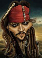 Caricature de Johnny Depp