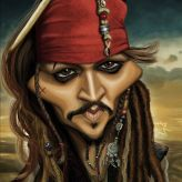 Caricature de Johnny Depp