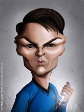 Caricature de Karl Urban