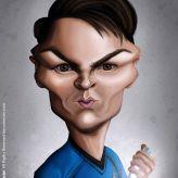 Caricature de Karl Urban