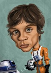 Caricature de Mark Hamill