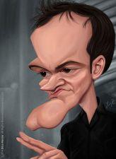 Caricature de Quentin Tarantino