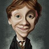 Caricature de Rupert Grint