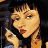 Caricature de Uma Thurman