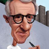 Caricature de Woody Allen