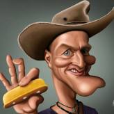 Caricature de Woody Harrelson