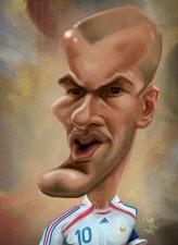 Caricature de Zinedine Zidane