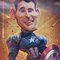 Caricature de Chris Evans
