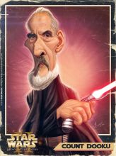 Caricature de Christopher Lee