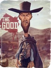 Caricature de Clint Eastwood
