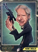Caricature d'Harrison Ford